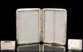 Silver Pocket Double Photo Frame Fully hallmarked, plain square, hinged case, 2 inches in height.