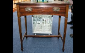 Mahogany Writing Desk With Draw To Front. Height 73cm. Width 70cm.