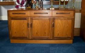 G Plan Sideboard - of small proportions comprising three drawers over 3 cupboards with integrated