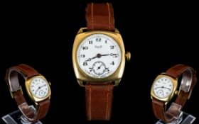 Limit III - Gents 9ct Gold Cased Mechanical Wrist Watch with Attached Leather Strap. c.1944.