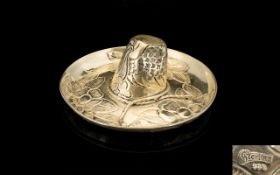Mexican Silver Novelty Pin Dish In The Form Of A Sombrero Realistically modelled with embossed