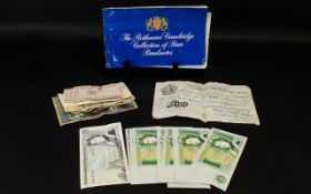 Bag of Banknotes including Beale White £5.00, Somerset £1.00 (10 uncirculated) and others.