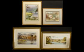 Judy Boyes (British 1943- ) Four limited Edition Framed And Signed Prints Each framed and mounted