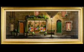 Deborah Jones (British 1921-2012) Oil On Board 'Bosketts Flower Shop' Signed to lower right,
