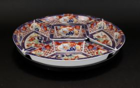 Oriental Design ' Lazy Susan' in colourful pattern of oriental floral style,