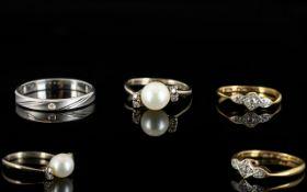 Platinum Wedding Band Fully hallmarked, brushed gold finish, ring size U. 3.5 grams.