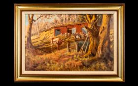 Allerley Glossop (South African, 1870-1955) Untitled Oil On Canvas Signed 'Allerley.Glossop.