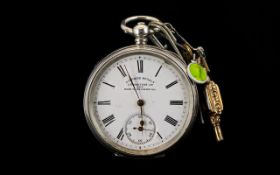 Antique Period Key-wind Open Faced open Pocket Watch, Marked to Dial ' Six Prize Medals ' J.N.