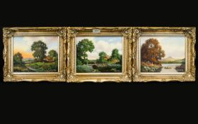 Vincent Selby (British 1919-2004) Three Framed Oil On Canvas Landscapes each signed to bottom left.