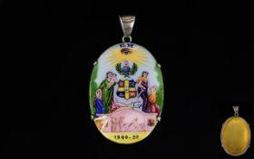 Masonic 18ct Gold Enamelled Pendant,