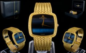 Baume and Mercier Superb Gents 18ct Gold Wrist Watch with Integral 18ct Gold Mesh Bracelet Bought