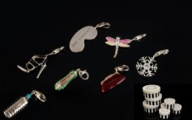 A Collection Of 7 Thomas Sabo Charms In Original Boxes,