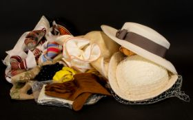 A Collection of Hats,Scarves & Gloves.