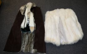 A Mixed Lot Of Vintage Fur Coats And Modern Faux Fur Gilets Five items in total to include Arctic
