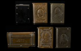 Antique Period Collection of Vulcanite Vesta Cases interesting lot, cases in 'book' form,