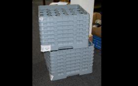 Cambro Grey 20 Compartment Glass Racks x 2. 35cm tall. Retail value £115.89 each.