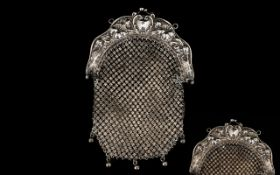 Edwardian Period Superb Quality Silver Purse For The Edwardian Lady In an Art Nouveau Style,