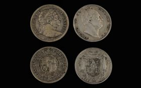 George III Silver Half Crown Date 1817 - Crowned Reverse / Carter / Shield High Grade Coin.