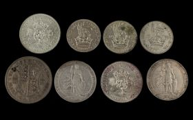 A Small Collection of British Silver Coins early to mid 20thC some high grades. Comprises 1.