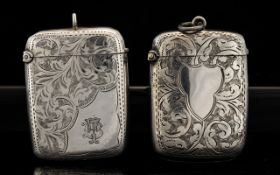 Antique Period Collection of Silver Vesta Cases (2) In Total.