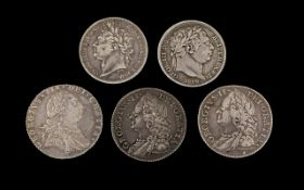 A Good Collection of Assorted British Silver Sixpences ( 5 ) In Total.