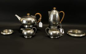 Liberty & Co Tudric Pewter Six-Piece Tea