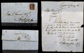 Victorian Postal History Interest 1850 H