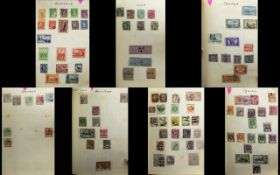 Old burgundy coloured Weston 333 stamp a
