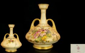Royal Worcester Blush Ivory Twin Handle