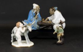 A Small Collection Of Ceramic Figures Th