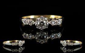 18ct Gold & Platinum Diamond Set Dress R