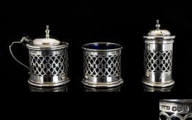 George V Nice Quality 3 Piece Silver Cru