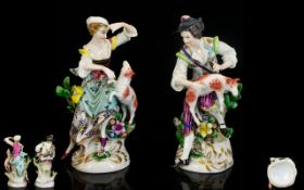 Dresden Early 20th Century Pair of Hand