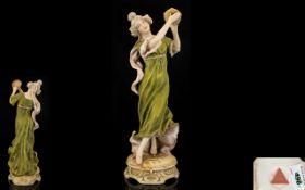Royal Dux Bohemia Handpainted Figurine o