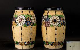A Pair Of Amphora Czechoslovakian Early