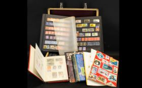 A Suitcase Containing Various Albums And