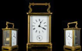 English Late 19th Century Brass Cased Ca