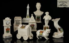 A Good Collection of Crested Ware Pieces Large Sizes ( 9 ) Nine Pieces In total.