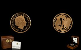 Royal Mint Limited and Numbered Edition 2012 -22ct Gold Proof Quarter Sovereign mintage 10,