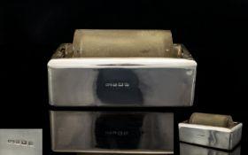Edwardian Period Silver Cased Glass Stamp Sticker Dispenser, Excellent Original Form and
