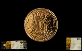 Royal Mint The Queens Diamond Jubilee - 2012 - 22ct Full Sovereign. Mint and Uncirculated.