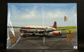 Terry Farrimond A Braniff Turboprop Aeroplane on the tarmac at Dallas International Airport USA Oil