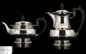 A Silver Teapot And Accompanying Coffee Pot Fully hallmarked Birmingham 'Z' 1899, Makers Mark D&B,