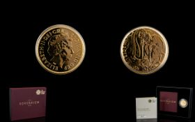 Royal Mint Elizabeth II Limited Edition 22 ct Gold Full Sovereign date 2012.