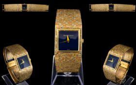 Bueche Girod Gents Impressive 9ct Multi-Gold Colour Bracelet Wrist Watch.