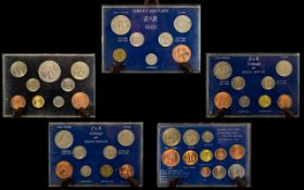 Coinage of Great Britain Pre Decimal Coin Sets 5 coin sets in total.