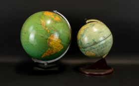 Two Vintage Table Globes Each of traditional form,