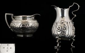 Victorian Period Small Sterling Silver Ornate Hand Crafted Jug of excellent proportions.