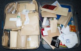 A Large Suitcase Full Of Stamp Paraphernalia Mostly Stamps On And Off Paper, Covers Etc.