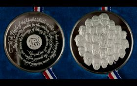 Franklin Mint Solid Sterling Silver Bicentennial Medal of The United States of America - Proof